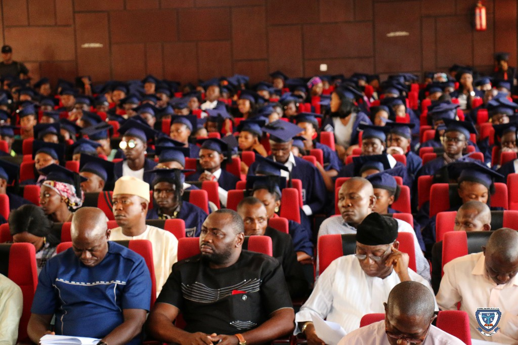Cross section of the Matriculating Students and some Senior Staff of the University at the 6th Matriculation Ceremony of FUL
