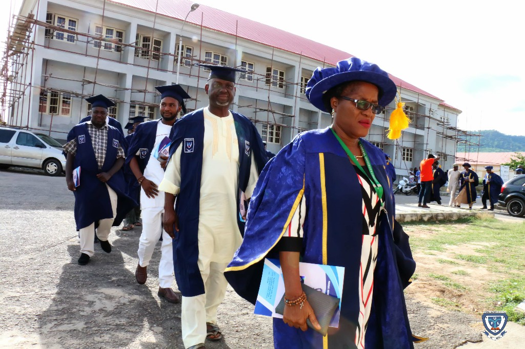 The procession ably led by the Deputy Registrar and Academic Secretary, Mrs. Omoayena Duro-Bello