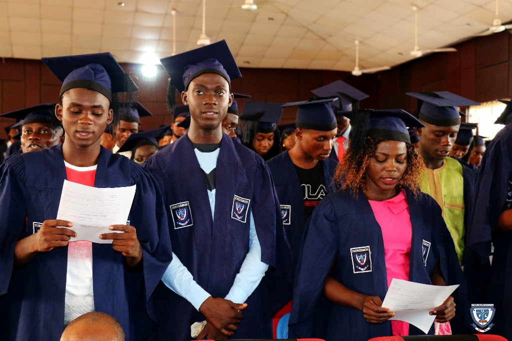 Cross section of the Matriculating Students taking Oath of Allegiance at the 6th Matriculation Ceremony of FUL