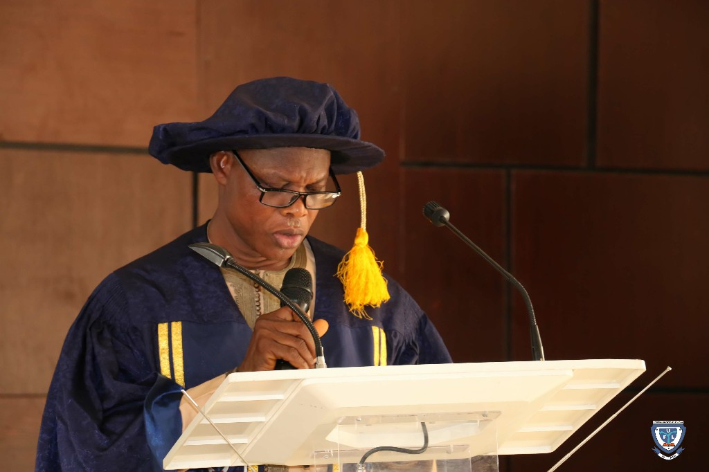 The Registrar of the University, Mr. Usman Suleman Obansa while inviting the Deans of Faculties to present their matriculating students for the administering of Oath by the Vice-Chancellor