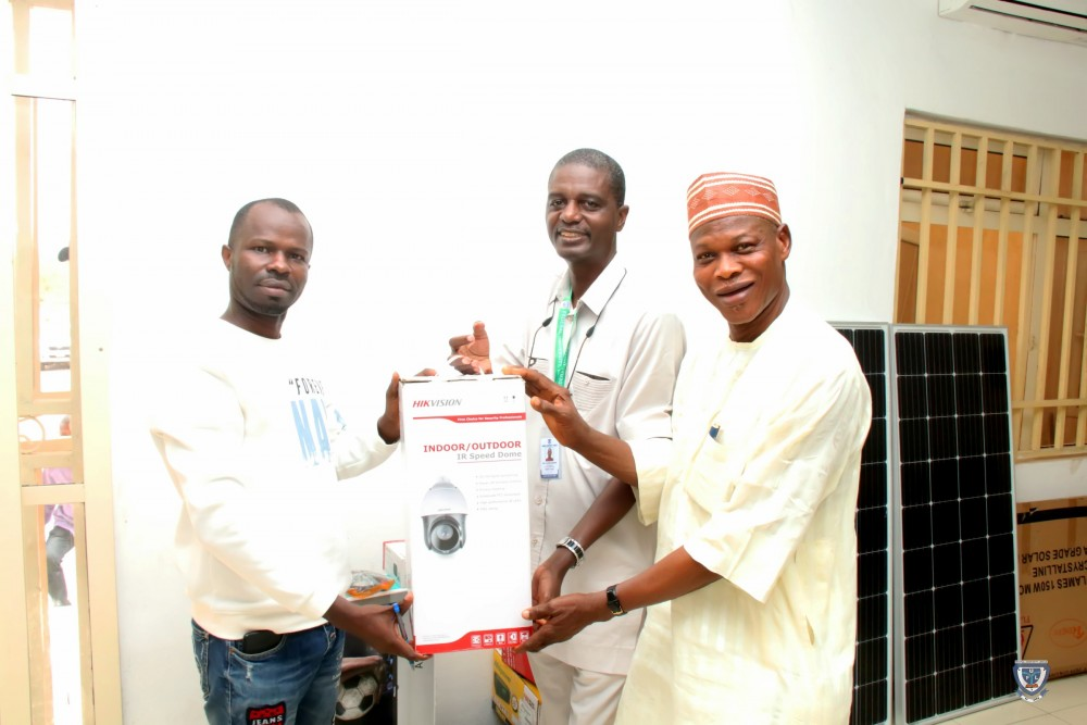 Photo News: Ful Staff Donates Cctv Cameras/accessories To The University