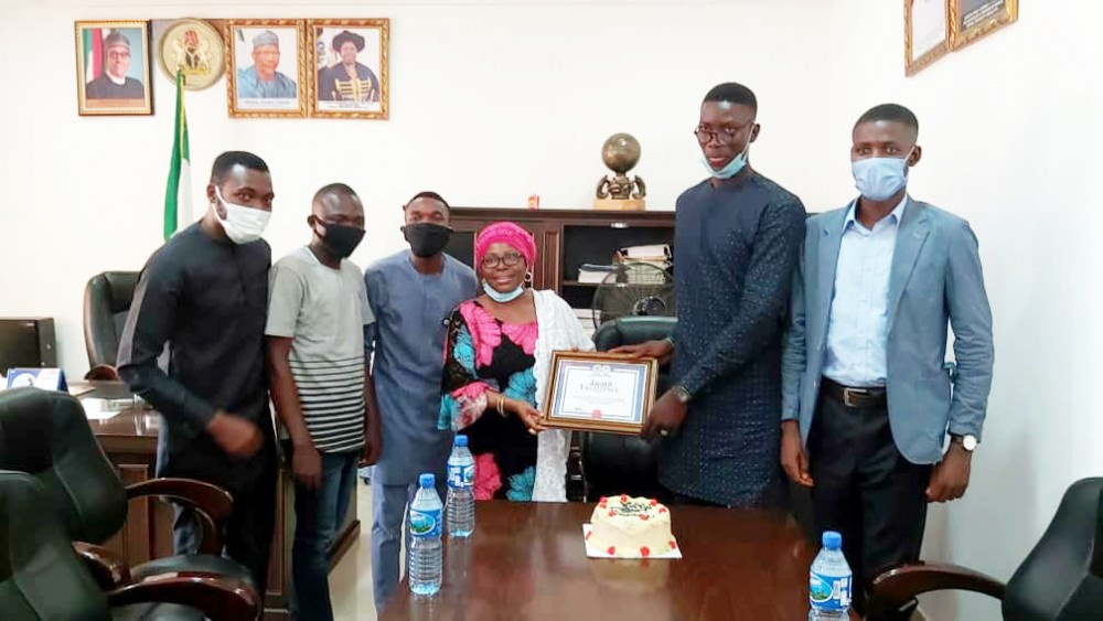 Photo News: Ful Students Union Celebrates Outgoing Vice-chancellor, Prof. Angela F. Miri With An Award Of Excellence