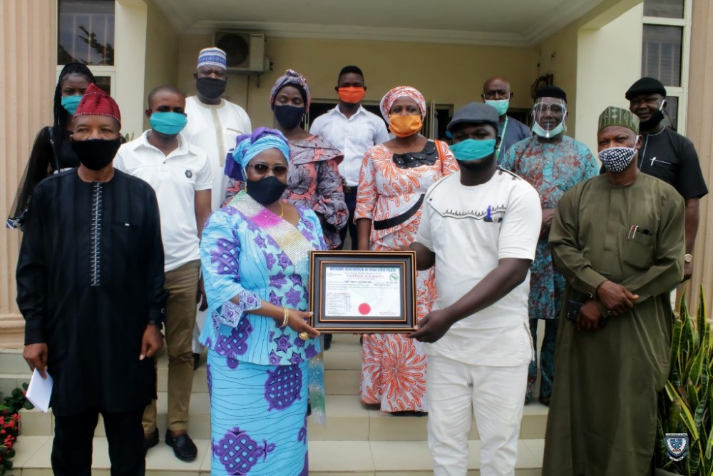 "Prof. Angela F. Miri Receives ""certificate Of Credence"" As Best Performing Head Of Higher Institution In Kogi State"